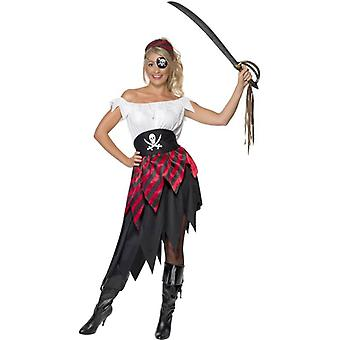 Pirate Wench Costume, UK Dress 12-14