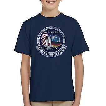 NASA STS 61 A Challenger Mission Badge Distressed Kid's T-Shirt