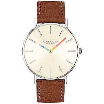 Coach | Womens Perry | Brown Leather Strap White Dial | 14503032 Watch