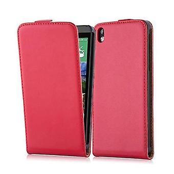 Cadorabo Hülle für HTC DESIRE 816 Case Cover - Handyhülle im Flip Design aus glattem Kunstleder - Case Cover Schutzhülle Etui Tasche Book Klapp Style