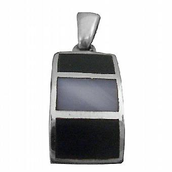 Her Gift Mother Of Pearls Square Sterling Silver Pendant