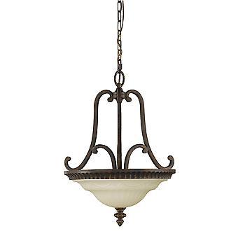 Walnoten salon twee licht plafond hanger - Elstead verlichting Fe / Drawingrm / FE/DRAWINGRM/SFB