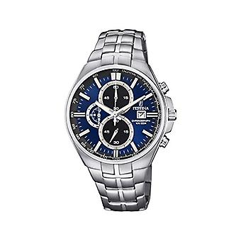 Festina Chronograph quartz men's Watch with stainless steel band F6862-3
