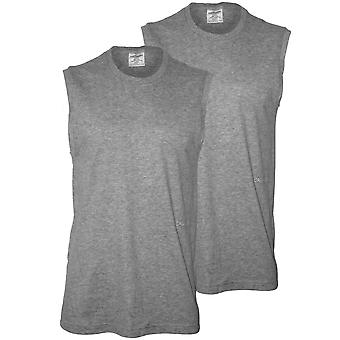 Calvin Klein 2-Pack Statement 1981 Muscle Tank Top Vests, Grey Heather