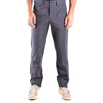 Bikkembergs Ezbc101048 Men's Grey Cotton Pants