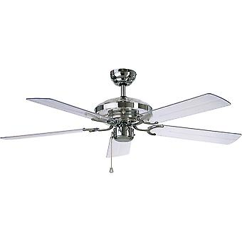Ventilateur de plafond acrylique Chrome 132cm/52