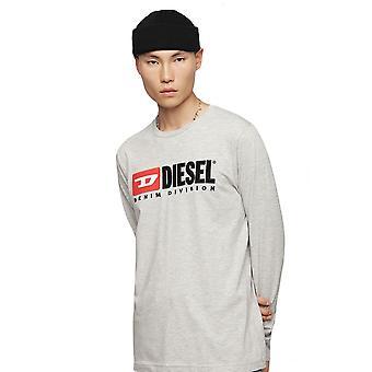 Diesel T-just ls Division T-shirt-ljusgrå
