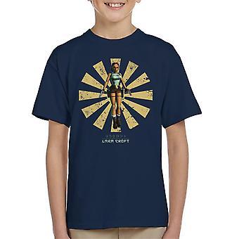 Lara Croft retro japonês Kid ' s T-shirt