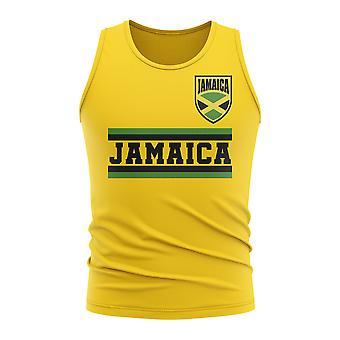 Jamaika Core jalka pallo maa Hihaton tii (keltainen)