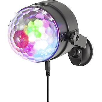NGS Spectra Rave Partylampe mit drei LEDs 18W RGB-Musik-Modus