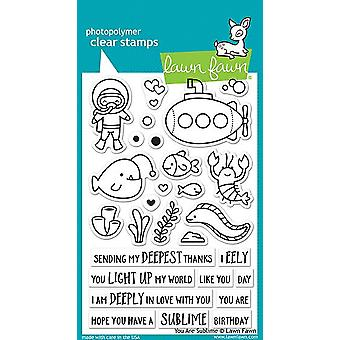 Lawn Fawn You Are Sublime Clear Stamps (LF1686)