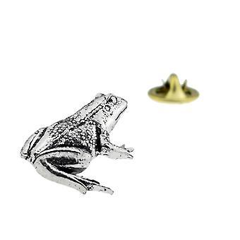 Frosk engelsk tinn jakkeslaget pin Badge, padde