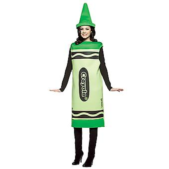 Crayola Tickle Me Green Crayon Color Art Birthday Party Womens Costume S/M