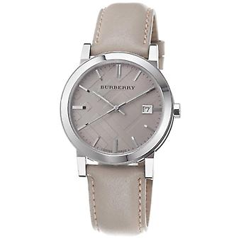 Burberry Bu9010 Mens Large Check Tan Leather Strap Watch