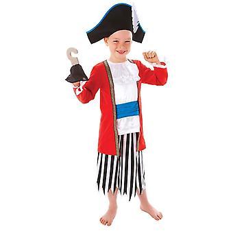 Jongens Captain Pirate fancy dress kostuum