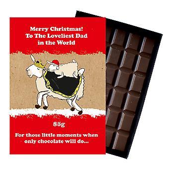 Funny Christmas gave til pappa far eske sjokolade Xmas presang til ham for pappa XMS114