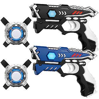 Ensemble de jeu laser KidsFun: 2 Pistolets Laser et 2 Gilets