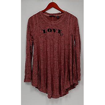 Anybody Women's Sleepshirt Brushed Hacci Message Pink A292756