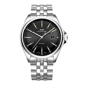 Glycine combat classic Automatic Analog Men's Watch with GL0101 Stainless Steel Bracelet