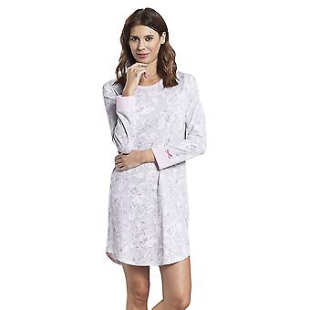 Rösch 1884150-11913 Femei's Smart Casual Everyday Grey Floral Cotton Nightdress Rösch 1884150-11913 Femei & apos;s Smart Casual Everyday Grey Floral Cotton Nightdress