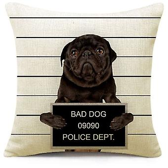 Wellindal Cushion Cover Bad Dog (Decoration , Cushions)