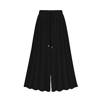 Vrouwen ' s elastische taille modal Jersey brede benen bijgesneden culotte, zwart, maat 2,0