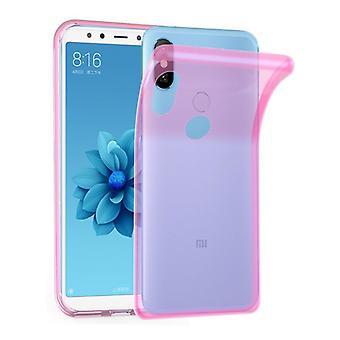 Cadorabo geval voor Xiaomi mi a2/6X gevaldekking-mobiele telefoon geval gemaakt van flexibele TPU silicone-silicone geval beschermende case ultra slanke zachte terug Cover Case bumper