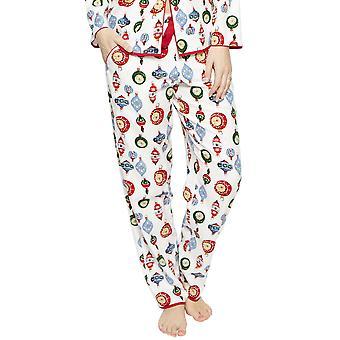 Cyberjammies 4259 Women's Belle White Mix Bauble Print Cotton Pyjama Pant