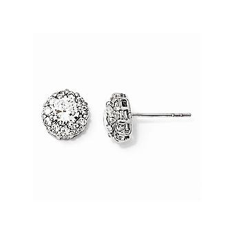 925 Sterling Silver Post Earrings Rhodium plated CZ Cubic Zirconia Simulated Diamond Stud Earrings Jewelry Gifts for Wom