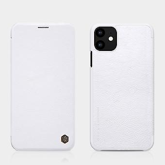 Protective Case Faux Leather Flipcase Cover for Apple iPhone 11 6.1 Inch White Case Case