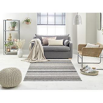 Schleife 7438A IVORY dunkel GRAU Rechteck Teppiche Plain/Fast einfache Teppiche