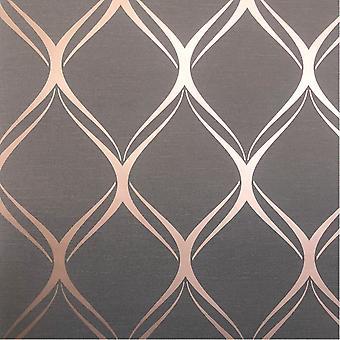Clifton Wave Geometric Wallpaper