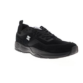 DC E Tribeka mens svart mocka atletisk spets upp skate skor