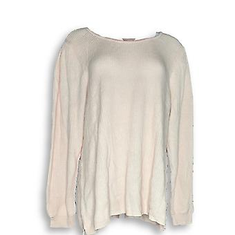 H por Halston Women's Sweater Scoop-Neck Pullover Sweater Ivory A343552