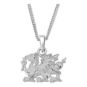 "Celtic Welsh 'Y Ddraig Goch' The Red Dragon National Flag of Wales Necklace Pendant - Include 20&"" Chain"