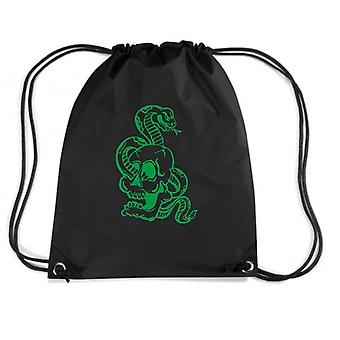 Black backpack fun3530 skull snake