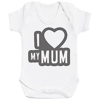 I Love My Mum Black Outline Baby Bodysuit