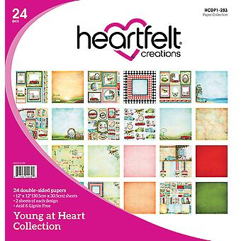 "Heartfelt Creations Double-Sided Paper Pad 12""X12"" 24/Pkg-Young At Heart 12 Designs/2 Each"