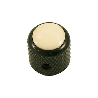 Q Parts Mini - Dome Knob - Cream Cap / Black Base