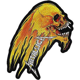 Metallica Patch Flaming Skull bandets Logo nye offisielle vevd sy