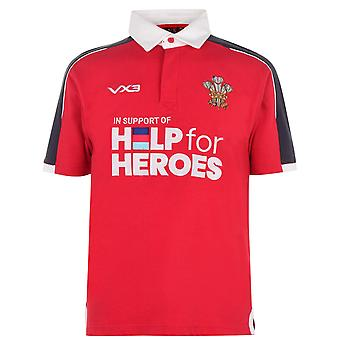 VX-3 Mens H4H Wales Shirt Jersey Top Sports T-shirt Short Sleeve
