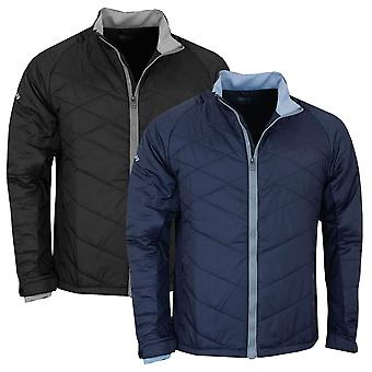 Callaway Golf Mens Puffer II Quilted Thermal Full Zip Jacket