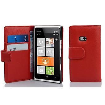 Cadorabo Hülle für Nokia Lumia 900 Case Cover - Handyhülle aus strukturiertem Kunstleder mit Standfunktion und Kartenfach – Case Cover Schutzhülle Etui Tasche Book Klapp Style