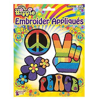 Bristol Novelty Hippie Embroider Appliques
