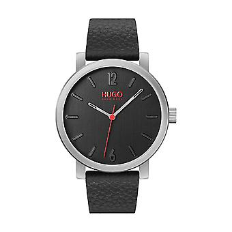 Hugo Watch 1530115 - Reveal Blue Steel Case Grey Leather Bracelet Grey Leather