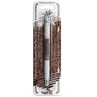 Regenboog stof dubbelzijdige voedsel pennen eetbare voedsel pen donkere chocolade