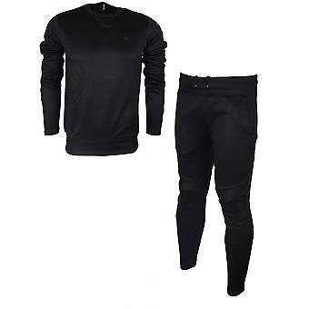 G-明星 莫塔克圆颈苗条适合聚酯黑色运动服