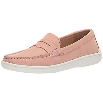 Driver Club USA Unisex Genuine Leather Casual Comfort Slip On Moccasin Penny Loafer Driving Style, blush nubuck 12 M US Little Kid