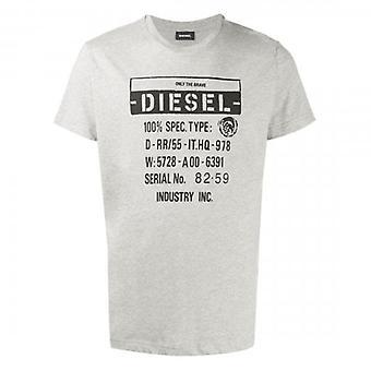 Diesel T-DIEGO-S1 Logo Printed T-Shirt Grey