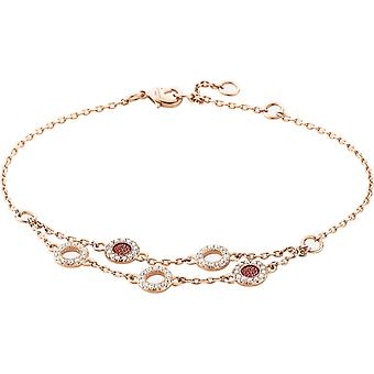 Zeades Sbc01069 bracelet - Bracelet Rose Gold Leather Crystal woman
